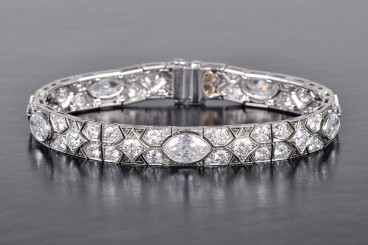 Art Deco Cartier Platinum Diamond Bracelet