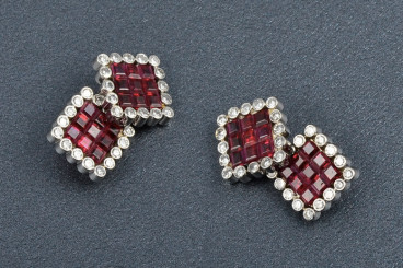 Invisibly Set Ruby and Diamond Cufflinks