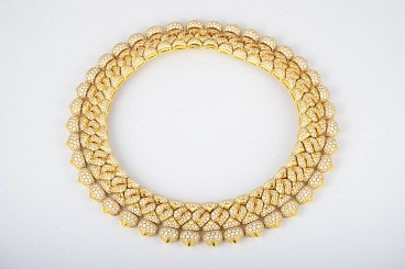Important Bulgari Gold and Diamond Necklace