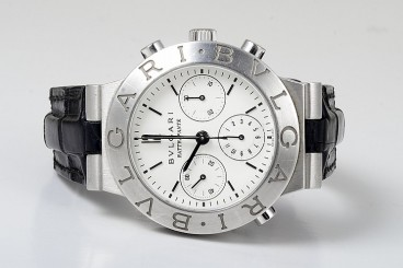 Bulgari Platinum Men's Chronograph Watch