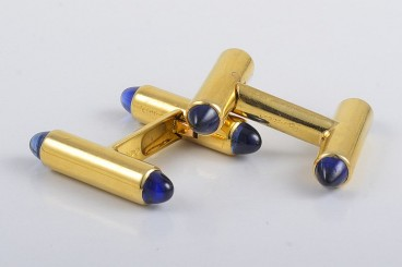 Fine Cartier Sapphire Cufflinks