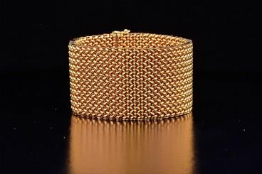 18K Gold Wide Bracelet