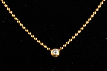 Cartier 18K YG Bead Necklace