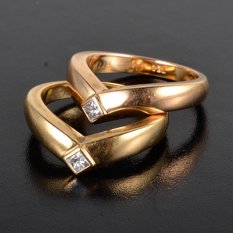 Cartier diamond ring set