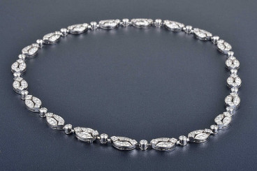 Cartier French Diamond Necklace
