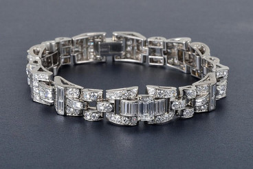 Oscar Heyman Platinum Diamond Bracelet