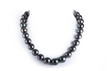 Single Strand of Black Pearl Necklace