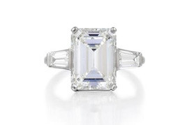 A 5.03ct J SI1 Emerald Cut Diamond Ring