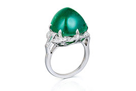 A Columbian Emerald and Diamond Ring