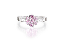 VC&A Pink Diamond Fleurette Ring