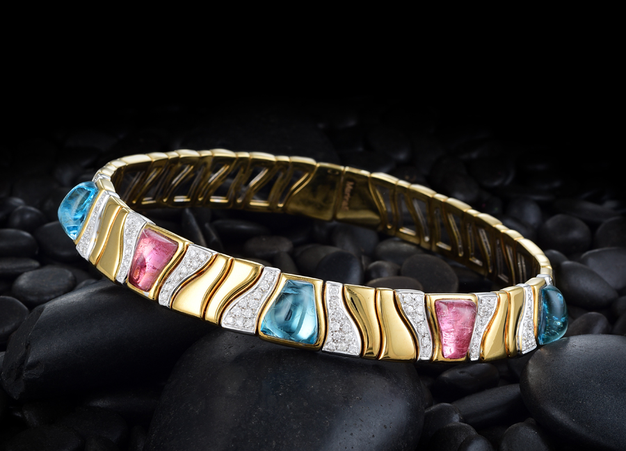 Marina B Diamond and Topaz Collar Necklace