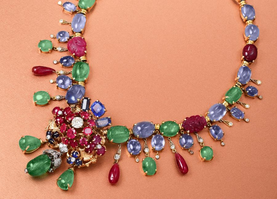 Seaman Schepps Diamond Multigem Necklace