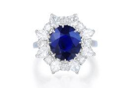 Bulgari Unheated Burmese Sapphire & Diamond Ring
