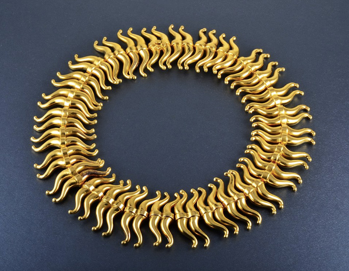 Impressive Lalaounis Gold Necklace