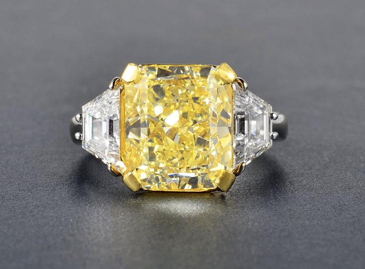 7.05ct Fancy Yellow Diamond Ring