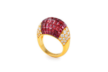 Van Cleef & Arpels Mystery Set Ruby Ring