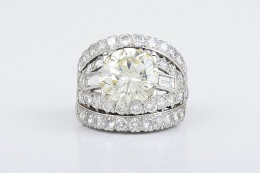 Estate Platinum 4.83ct Diamond Ring