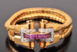 Boucheron diamond ruby bracelet