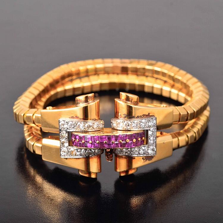 Boucheron diamond ruby bracelet