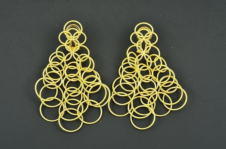 Buccellati 18K YG Hawaii Earrings