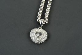 Chopard 18K WG Diamond Heart Necklace