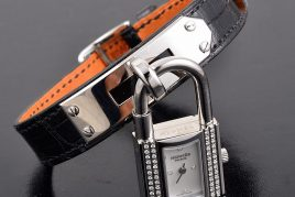 Hermes diamond Stainless Steel watch