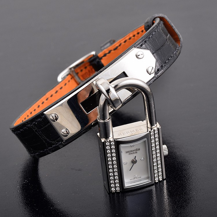 Hermes diamond Stainless Steel watch