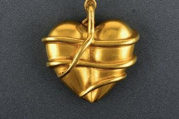 Kieselstein Cord 18K YG Heart Pendant
