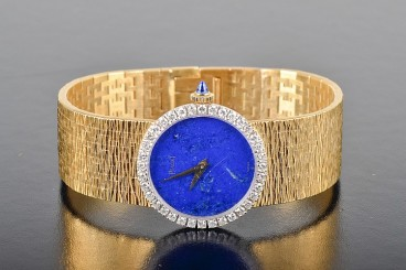 Piaget 18k diamond lapis dial lady's watch