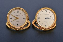 Van Cleef & Arpels Gold Travel Clocks