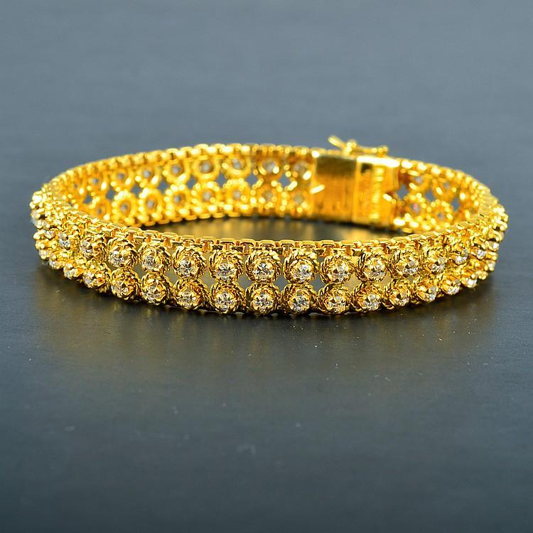 Van Cleef & Arpel 18K YG Diamond Bracelet