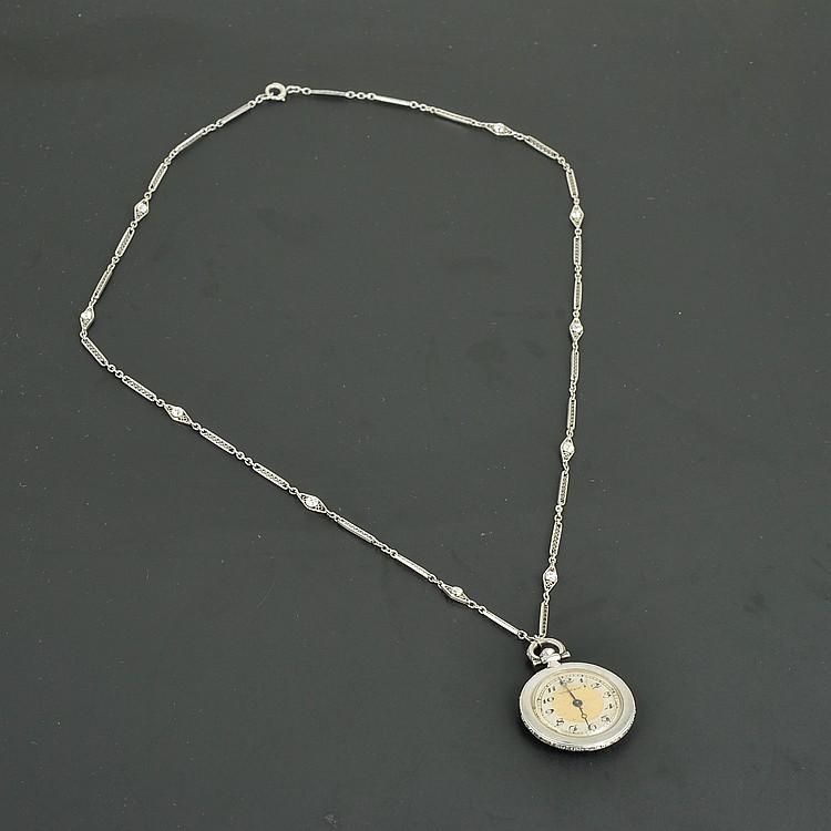 Vintage Tiffany&Co Platinum Diamond Watch Pendant
