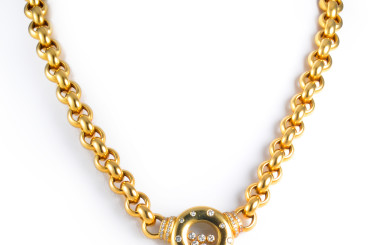 Chopard Diamond Heavy Gold Necklace
