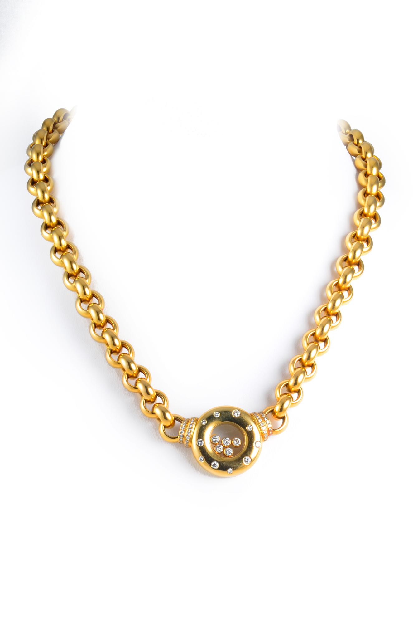 Chopard Diamond Heavy Gold Necklace