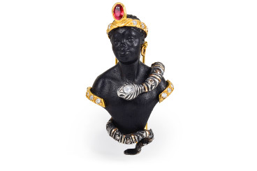A Nardi Blackamoor brooch sold by Fortuna Auction