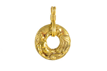 Van Cleef & Arpels Gold Disc Pendant