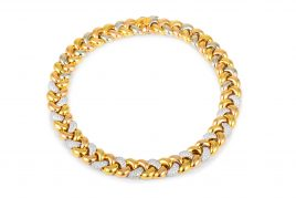 Poiray Diamond Gold Link Necklace