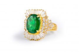 Emerald Diamond Cocktail Ring
