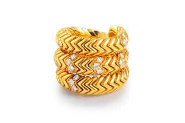 Bulgari Diamond Snake Ring
