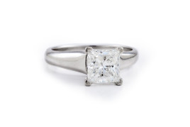Tiffany Princess Cut Diamond Engagement Ring
