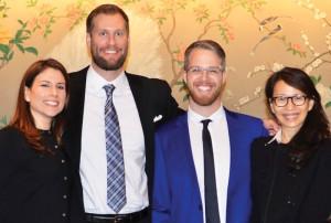 Fortuna's owners (L-R), Maria Saxon, John Saxon, Seth Holehouse, and Anna Lin