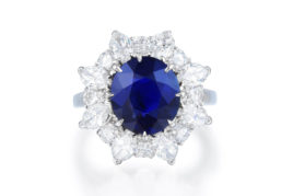 Bulgari Unheated Burmese Sapphire & Diamond Ring