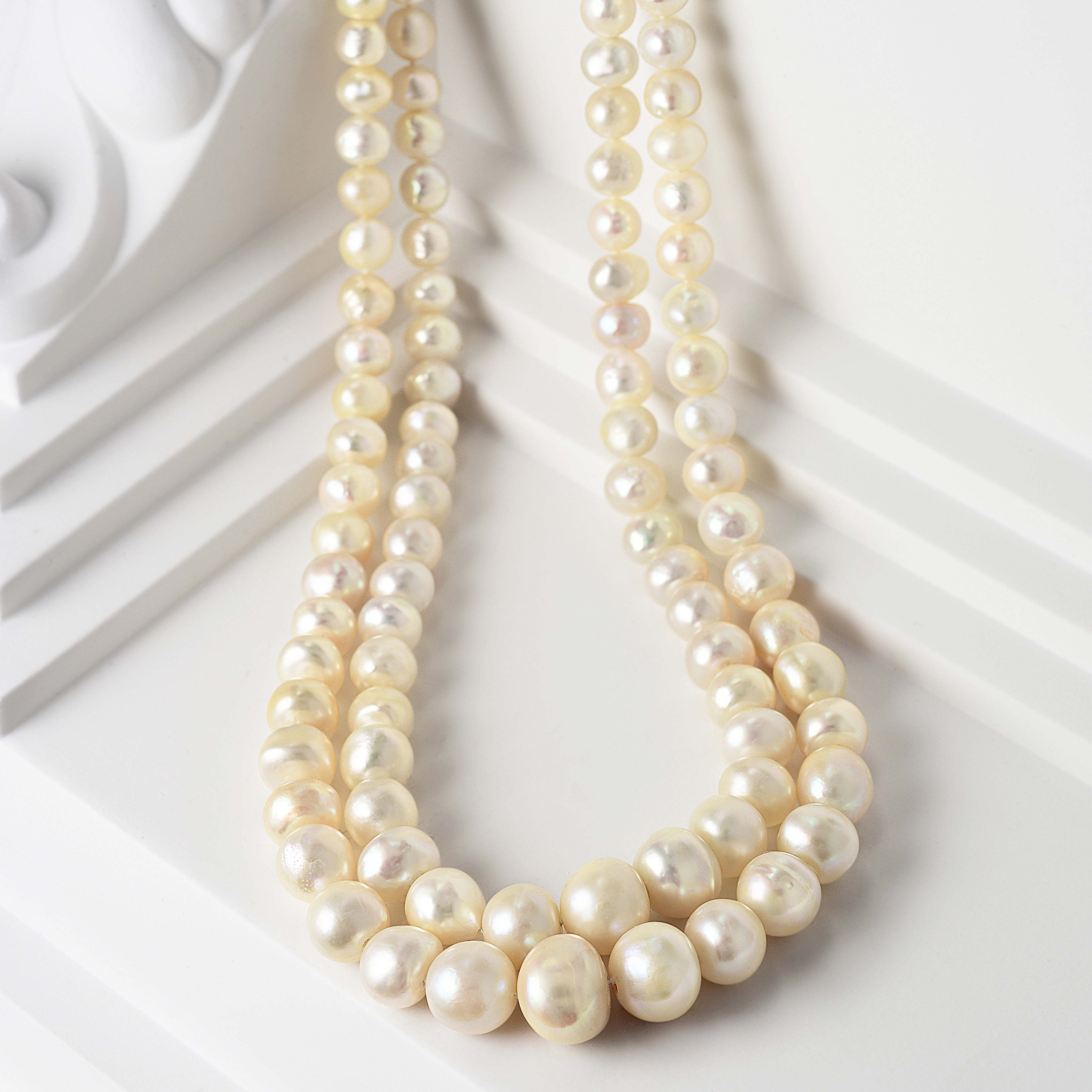 A Double Strand Natural Saltwater Pearl Necklace