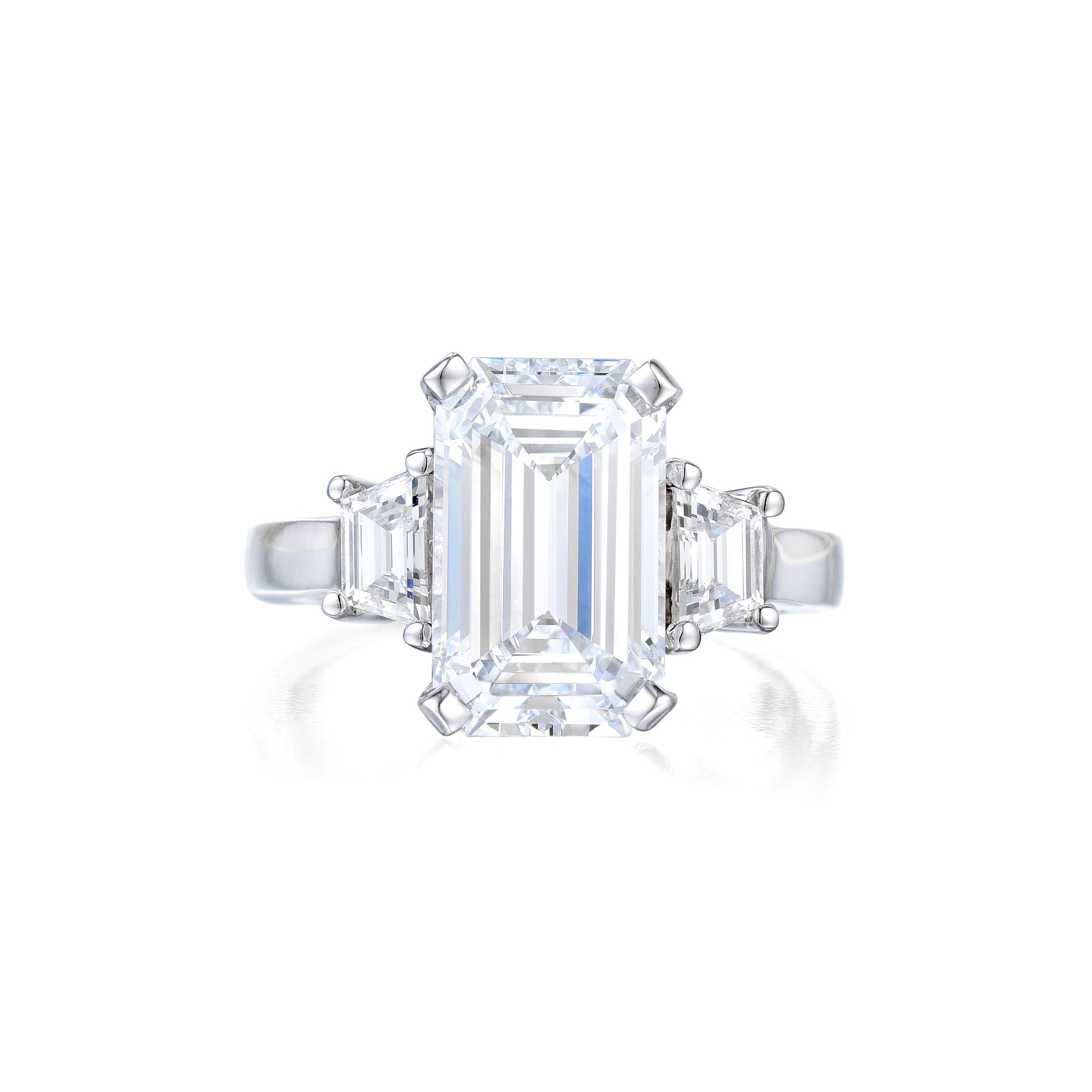 A 5.01ct D IF Emerald-Cut Diamond Ring