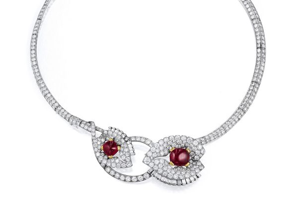 Art Deco Cartier Ruby Diamond Necklace