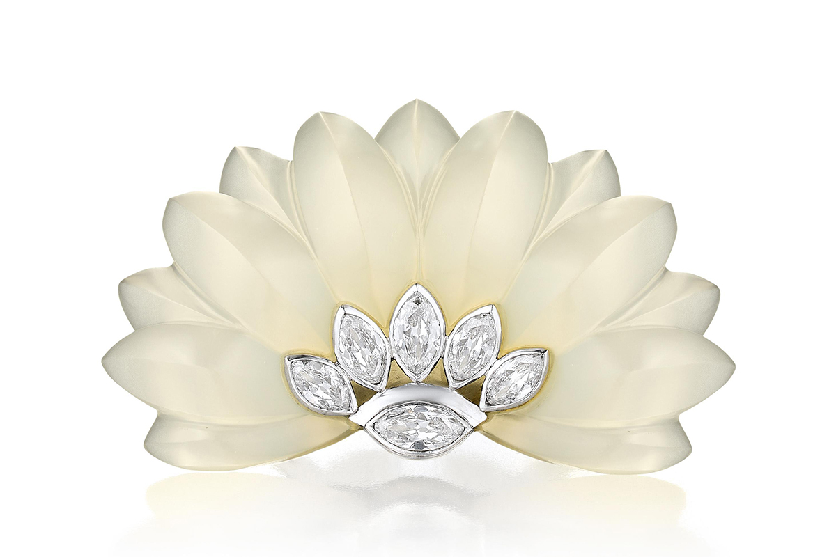 Belperron Diamond Chalcedony Clip