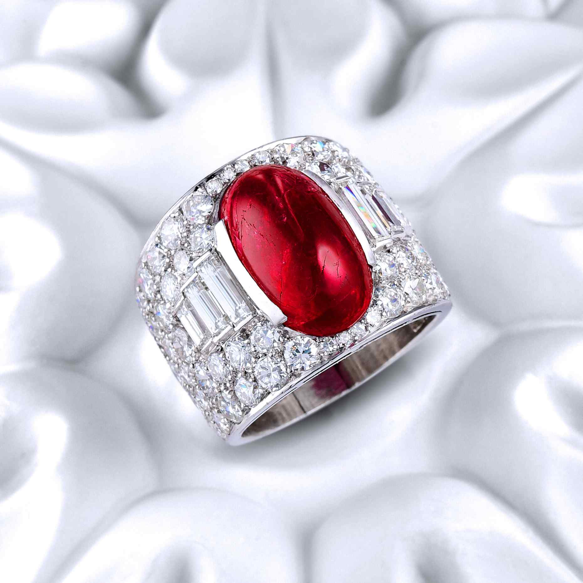 Bulgari Burmese Ruby Trombino Ring- Fortuna in How to Spend It