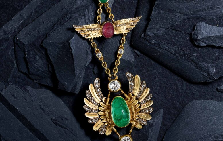 Robert and Louis Koch Egyptian Revival Necklace-Fortuna Auction NYC
