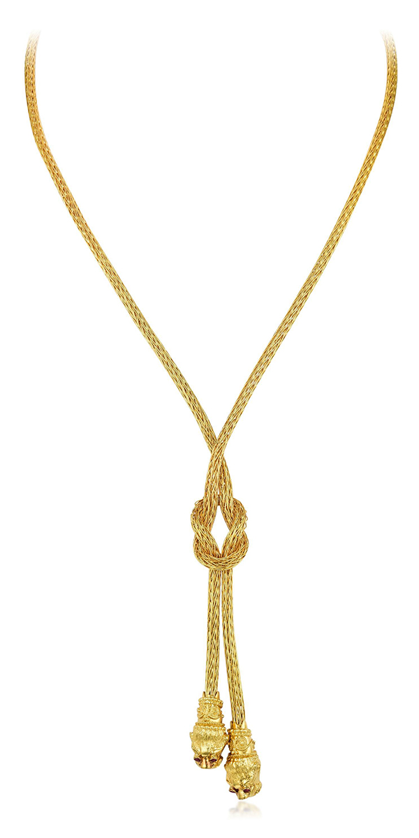 Ilias Lalaounis Gold Lariat- Fortuna Auction NYC