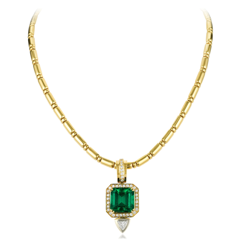 10.66 carat Colombian Emerald Necklace - Fortuna Fine Jewels